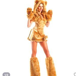 8 piece golden bear costume